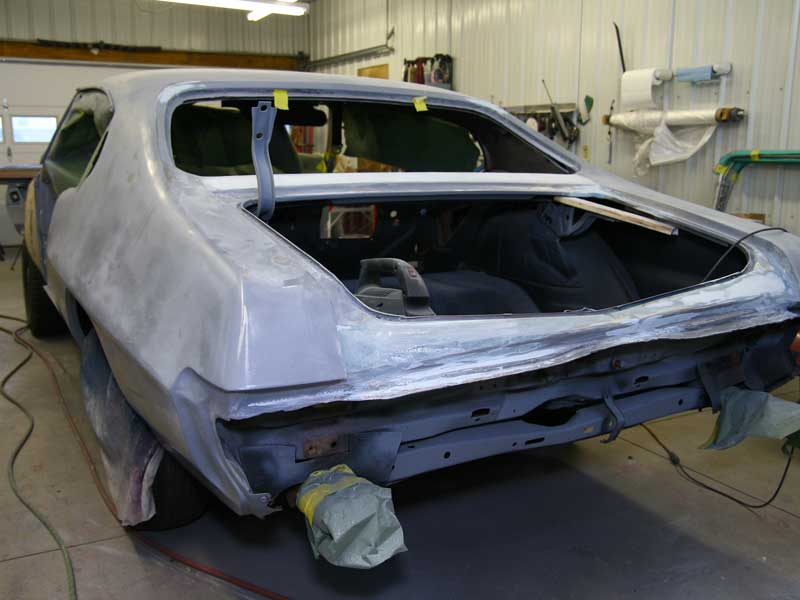 Body Work on a GTO Judge