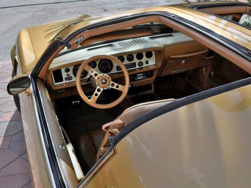 Interior of a 1978 Pontiac Trans Am Y88 Gold Special Edition