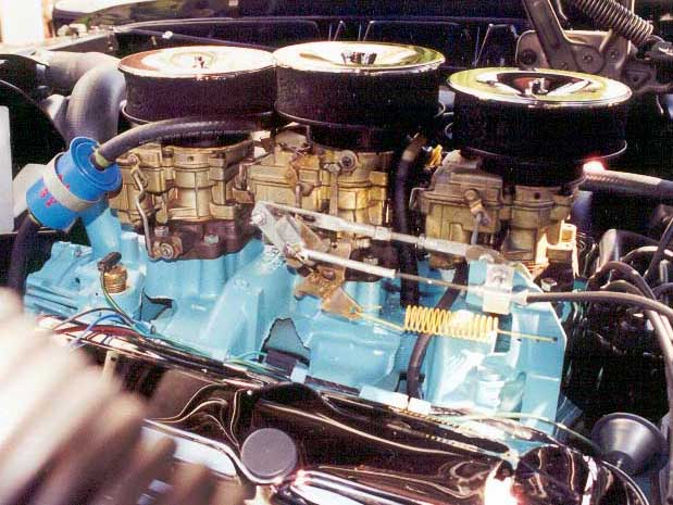 Tri-Power Set Up on a 1965 GTO