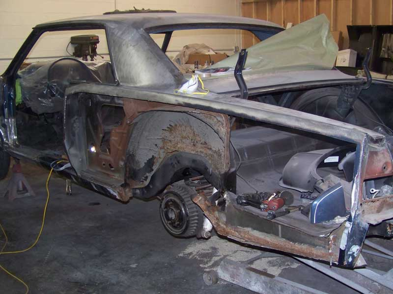 Replacing Driver's Side Rear Quarter 1965 GTO